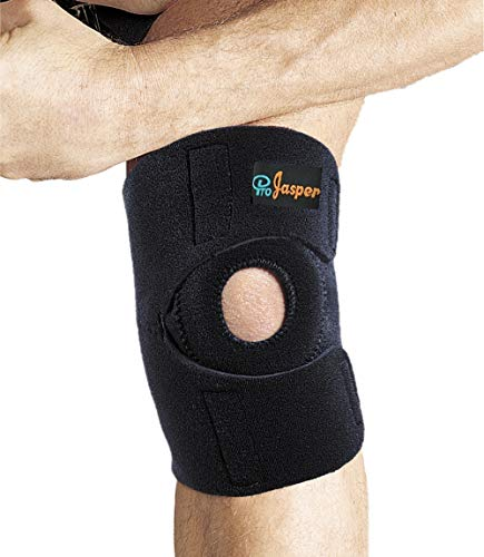 Knee Brace Open Patella by Jasper Support for Sprains, Arthritis, Tendinitis Pain Relief, with Adjustable Breathable Compression stabilizing Neoprene