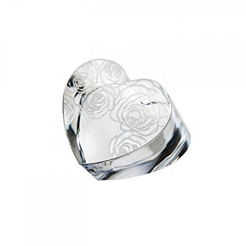 Waterford 3In Sunday Rose Heart Paperweight ()