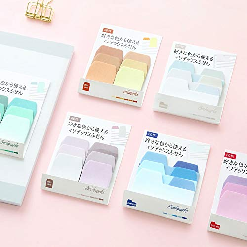 Folder Sticky Note, Index Label Page Flag 6 Plate Paper Bookmark Memo Pad Paste Sticker Stationery Office Supplies