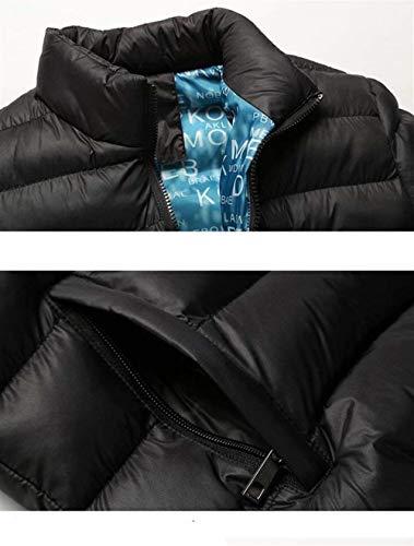 Sudore Con Clásico Trapuntata schwarz Lunga Collare 1 Lampo Uomini Laisla Manica Capispalla Giù Chiusura Del Giacca Basamento La Di Modo Di Boy OqW5xppn