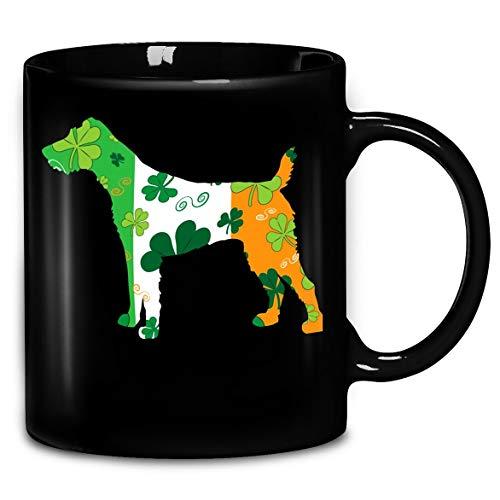 St Patricks Day Dog Fox Terrier Lucky Irish Coffee Mug 11oz & 15oz Ceramic Tea Cups ()
