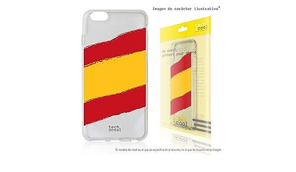 Funnytech® Funda Silicona para Xiaomi Pocophone F1 [Gel Silicona Flexible, Diseño Exclusivo] Bandera España Transparente: Amazon.es: Electrónica