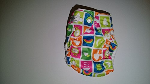 Sunbaby Diapers 4.0 Cloth Pocket Diaper, 7-35 Pounds, Nature , Microfiber Insert Included (Size 2)