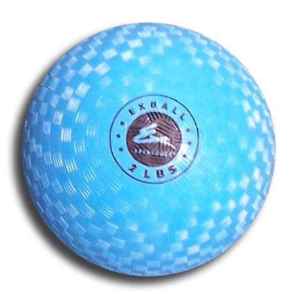 Exertools 2 lbs. Blue Soft Shell Exball Medicine Ball