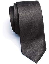 "New Skinny Solid Black 2 Inch Necktie Tie"""