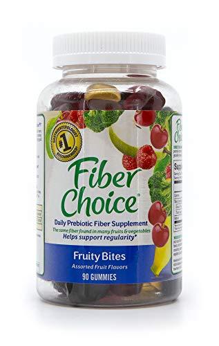 Fiber Choice Gummies Fruity Bites 90 Count Assorted Fruit
