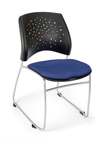 OFM Stars Series Armless Fabric Swivel Chair, Royal Blue