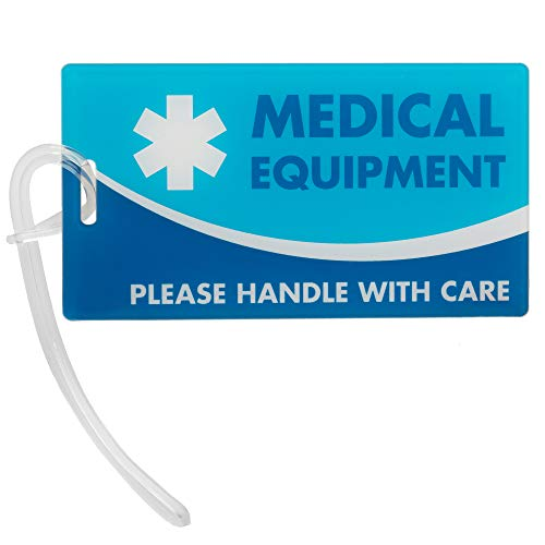 Medical Equipment ID Identification Luggage Tags   Medical Alert   Carry-On Respiratory Devices   Travel Supplies   Bag Tag   Luggage Gift