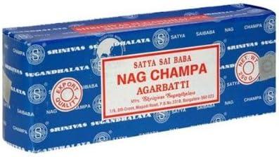 Satya Nag Champa 100 G de incienso, 20 palos x 6 Packs