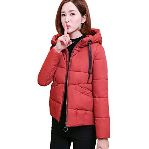 NEARTIME 2018 Cotton Warm Coat,Fashion Sturdy Hooded Slim Parka Zipper Jacket Outwear for Winter Red