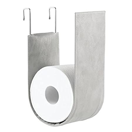 Mdesign Wall Mounted Toilet Roll Holder No Drilling Necessary