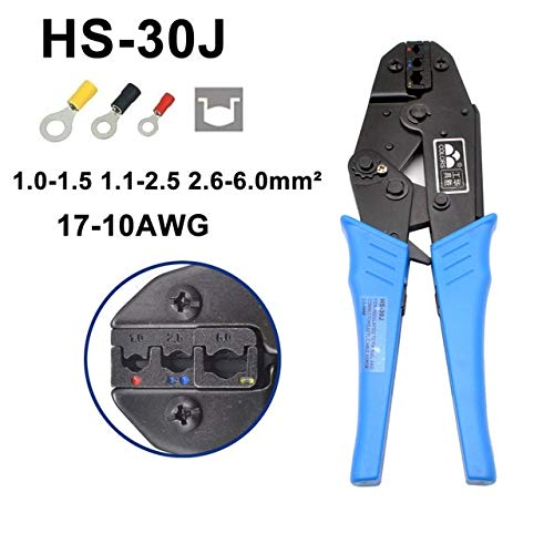 Davitu 100Pieces/50Set Crimp Male Female Spade Cable Terminals Nylon Flag Right Angle Insulated Fast Quick Wire Connector Terminator - (Color: HS-30J) ()