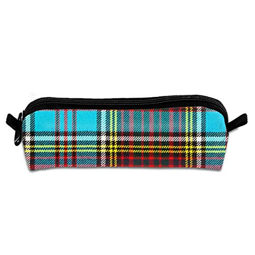 OLGCZM Modern Anderson Heavy Weight Tartan Pencil Case,Pen Bag for Pens, Pencils, Highlighters, Gel Pen, Markers and Other School Supplies ()