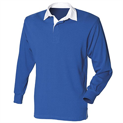 Front Row Long sleeve original rugby shirt Royal XL Front Row Rugby Shirt