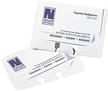 Rolodex clear business card sleeves pack of 40 amazon rolodex clear business card sleeves pack of 40 reheart Image collections