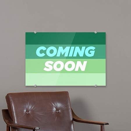 18x12 CGSignLab Coming Soon Modern Gradient Premium Acrylic Sign 5-Pack