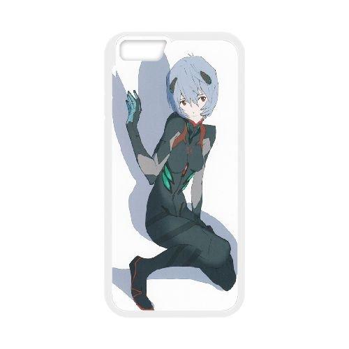 Ayanami Rei Neon Genesis Evangelion coque iPhone 6 4.7 Inch Housse Blanc téléphone portable couverture de cas coque EBDOBCKCO11416