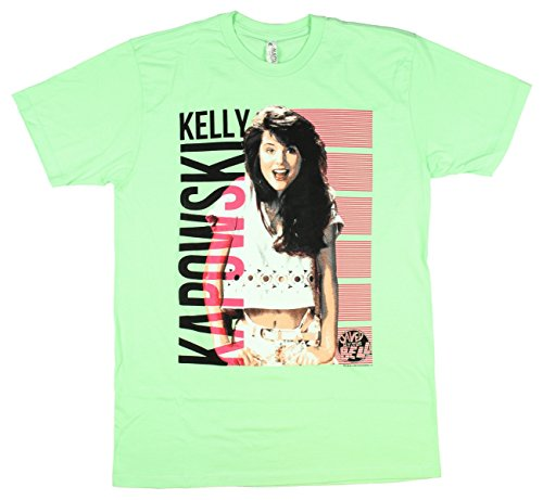 Saved by The Bell Men's Kelly Kapowski LIme Green Tee
