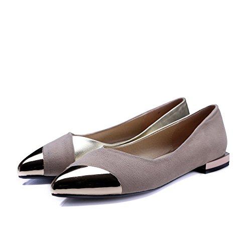 Bas Pompes Assorties Couleurs Abricot De Voguezone009 Fermé Chaussures Pointu Femmes Bout Talons q6wnx7F8