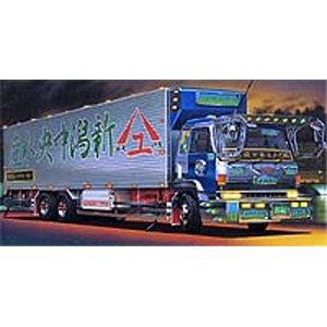 青島文化教材社 1/32 大型デコトラ No.60 古町観光 ふるまちかんこう ロングシャーシ保冷車の商品画像