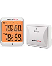 ThermoPro TP63A Digital Wireless Indoor Outdoor Thermometer Hygrometer Touch Screen Room Temperature Humidity Meter with Rechargeable Sensor for Home Office Nursery, 200 Feet Range, Backlit Display