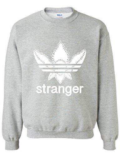 Fan Adult Sweatshirt - Allntrends Adult Sweatshirt Stanger Monster Trending Tops Cool Fans Gift (S, Sporty Grey)