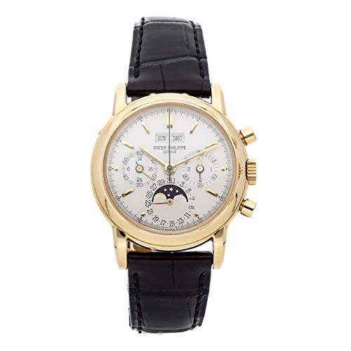 Patek Philippe Grand Complications Mechanical Hand-Winding Silver Dial Mens Watch 3970J Certified Pre-Owned