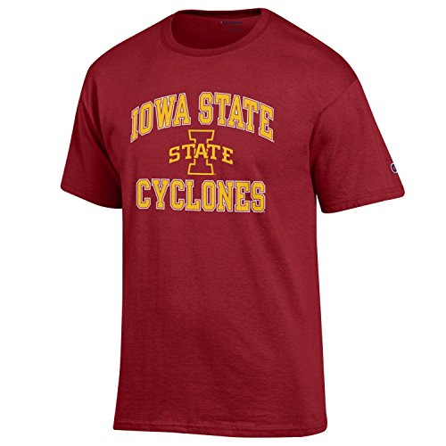 (Champion NCAA Men's Shirt Short Sleeve Officially Licensed Team Color Tee, Iowa State Cyclones, Small)