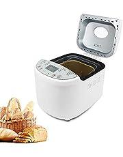 Domaier Broodbakmachine, 19 programma's voor brood met natuurlijke levaine, glutenvrij, brioche, pasta, jam enz., 3 broodmaten 1,0/1,5/2,0 lb