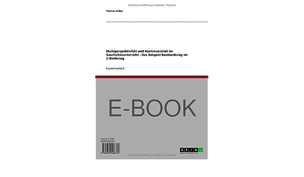 Multiperspektivität im Geschichtsunterricht (German Edition)