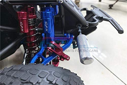 #85076-4 Upgrade Parts Spring Steel Front Sway Bar /& Aluminum Sway Bar Arm /& Stainless Steel Linkage Traxxas Unlimited Desert Racer 4X4 12Pc Set Blue
