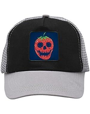 Unisex Strawberry Skull Adjustable Classic Hiphop Hat Baseball Cap Snapback Dad Hat