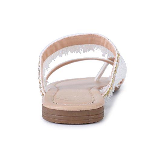 Alexis Flats Pantofole Leroy Scarpe Sandali Boemo Spiaggia Da Bianco Comfort qq6Er