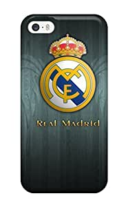 Iphone 5/5s Hard Back With Bumper Silicone Gel Tpu Case Cover Real Madrid Emblem 1024¡Á768