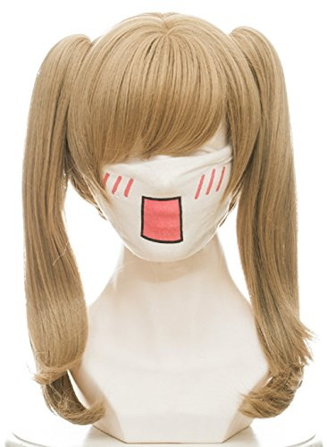 Linfairy Ash Blonde Wig Halloween Cosplay Wig For Women with two Ponytail -