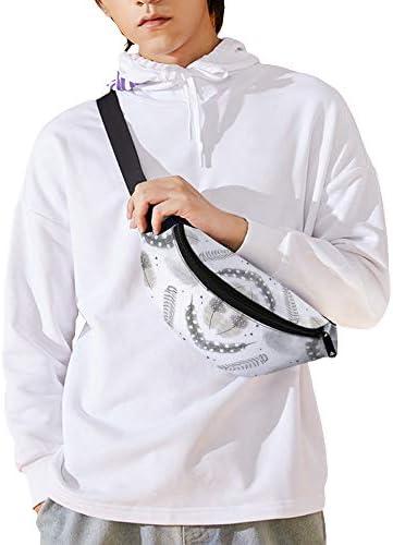 中立的な羽 ウエストバッグ ショルダーバッグチェストバッグ ヒップバッグ 多機能 防水 軽量 スポーツアウトドアクロスボディバッグユニセックスピクニック小旅行