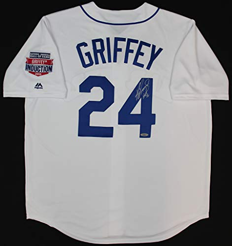 Ken Griffey Jr. Autographed White Seattle Mariners Jersey - Hand Signed By Ken Griffey Jr. and Certified Authentic by TRISTAR - Includes Certificate of Authenticity - Inscribed HOF - Mariners Signed Hand Seattle