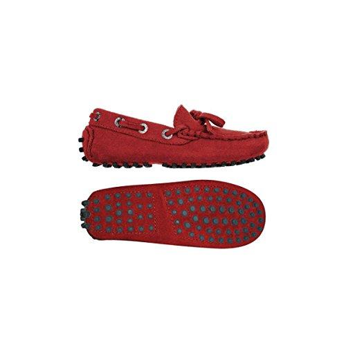 Superga 487-SUEJ S003380 - Zapatos de ante para niño Purple Red
