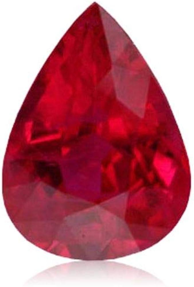 Burma Red Ruby Untreated Gemstone Pair Natural 3 Ct Star Shape AGI Certified CC8