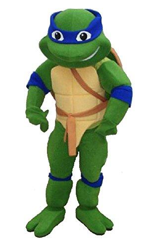 Green Turtle Teenage Mutant Ninja Turtle Mascot Costume