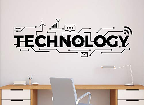 Technology Wall Decal Science Vinyl Sticker Home Office Decor Classroom Interior (63n)