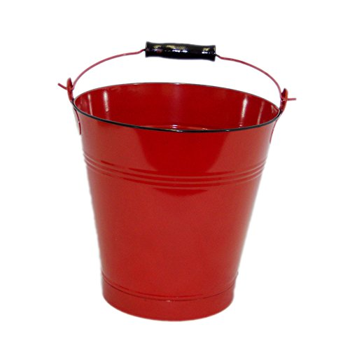 Large Red Enamel Pail