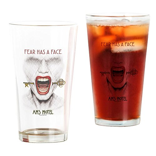 CafePress - AHS Hotel Fear Has A Face - Pint Glass, 16 oz. Drinking - Glasses Story American Horror