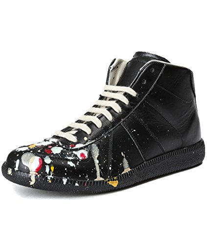 martin-margiela-mens-paint-splattered-black-high-top-sneakers-40-black