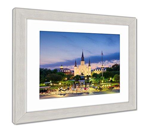 Ashley Framed Prints New Orleans At Jackson Square, Wall Art Home Decoration, Color, 26x30 (frame size), Silver Frame, AG5624908 ()