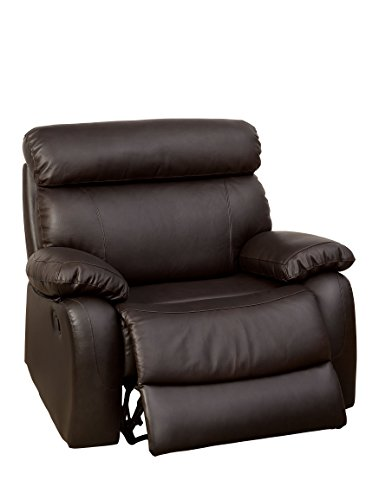 247SHOPATHOME IDF-6193-CH-XL Collister Recliner, Extra Large, Brown