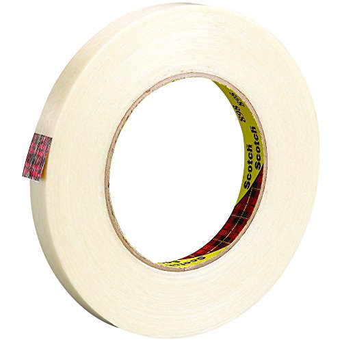 Ship Now Supply SNT91389812PK 3M 898 Strapping Tape, 6.6 Mil, 1/2'' x 60 yd., Clear (Pack of 12) by Ship Now Supply