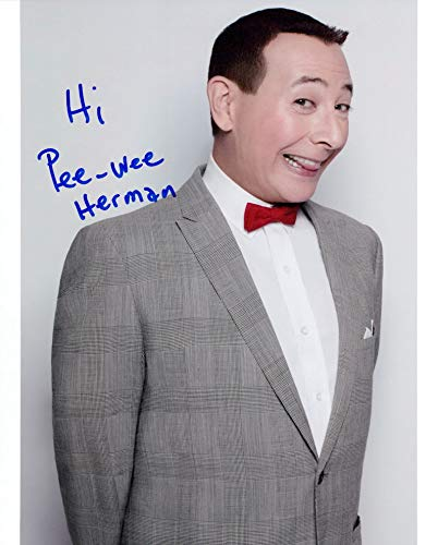 Photo Herman Signed - PEE-WEE HERMAN signed 8X10 photo