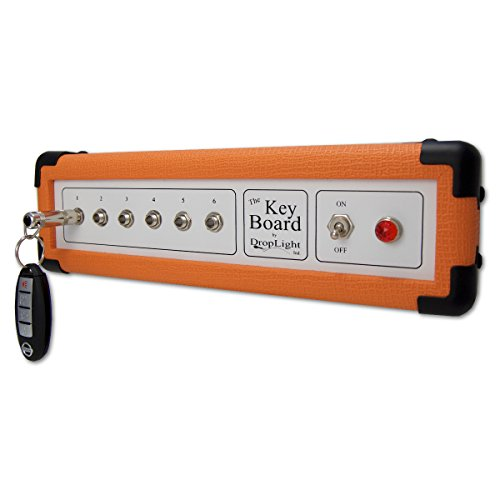 - Guitar Amp Wall Key Holder with 6 Keychains. The Key Board by DropLight Ind. Amp Inspired. American Made. (Orange)