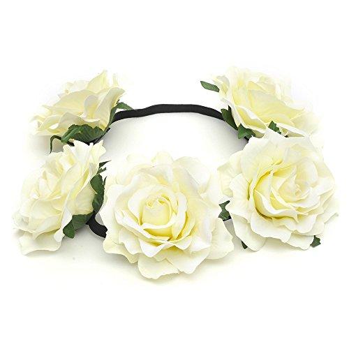 DreamLily Women's Hawaiian Stretch Flower Headband for Garland Party ()